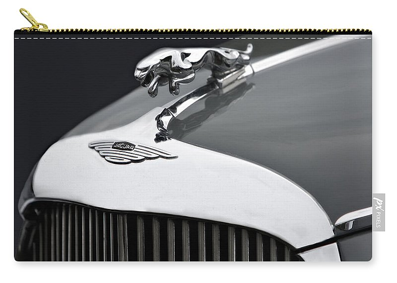 Grill Carry-all Pouch featuring the photograph Jaguar Mk Ix Hood by Susan Candelario