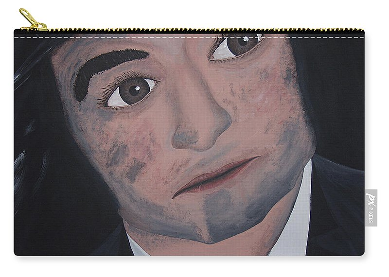 Bluesy Carry-all Pouch featuring the painting Jake Blues by Dean Stephens
