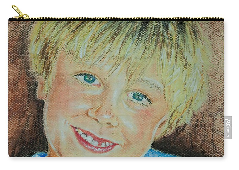 Boy Carry-all Pouch featuring the pastel Jake by Katharina Filus
