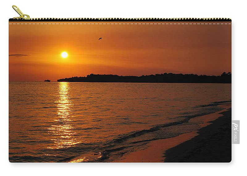 Sunset Carry-all Pouch featuring the photograph Jamaica Sunset by David Hart