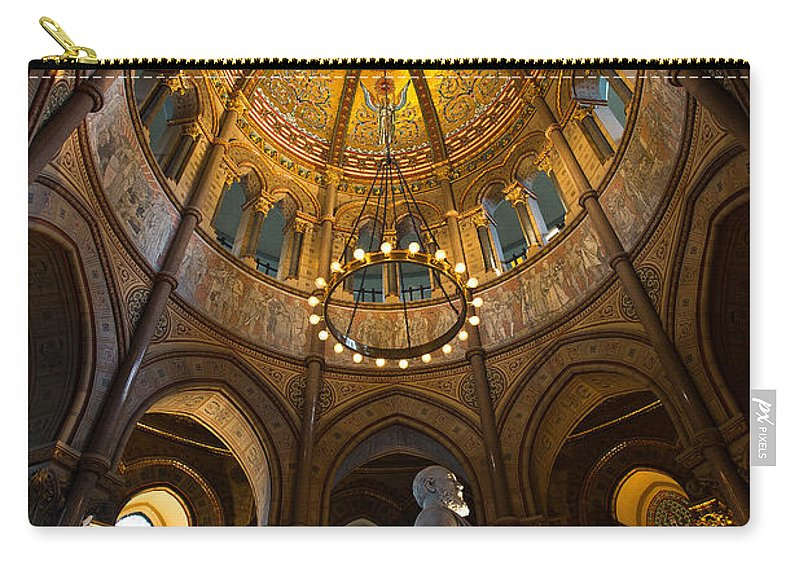 James A Garfield Carry-all Pouch featuring the photograph James A Garfield Monument by Dale Kincaid