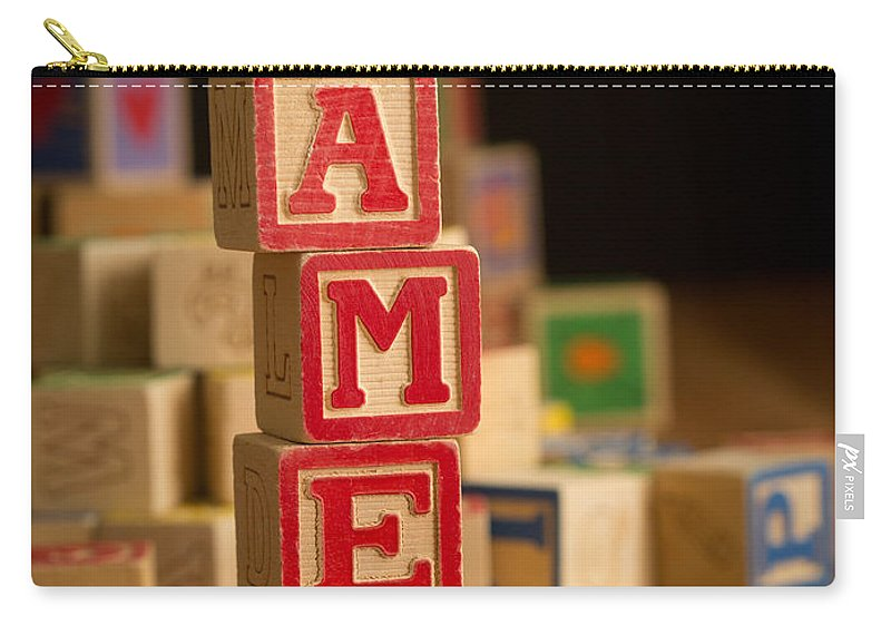 Alphabet Carry-all Pouch featuring the photograph James - Alphabet Blocks by Edward Fielding