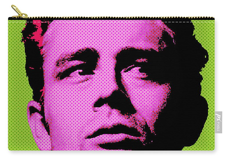 James Dean Carry-all Pouch featuring the digital art James Dean 003 by Bobbi Freelance