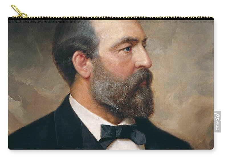 Ole Peter Hansen Balling Carry-all Pouch featuring the painting James Garfield by Ole Peter Hansen Balling