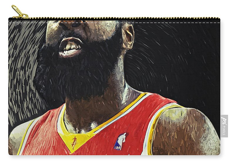 James Harden Carry-all Pouch featuring the digital art James Harden by Zapista OU