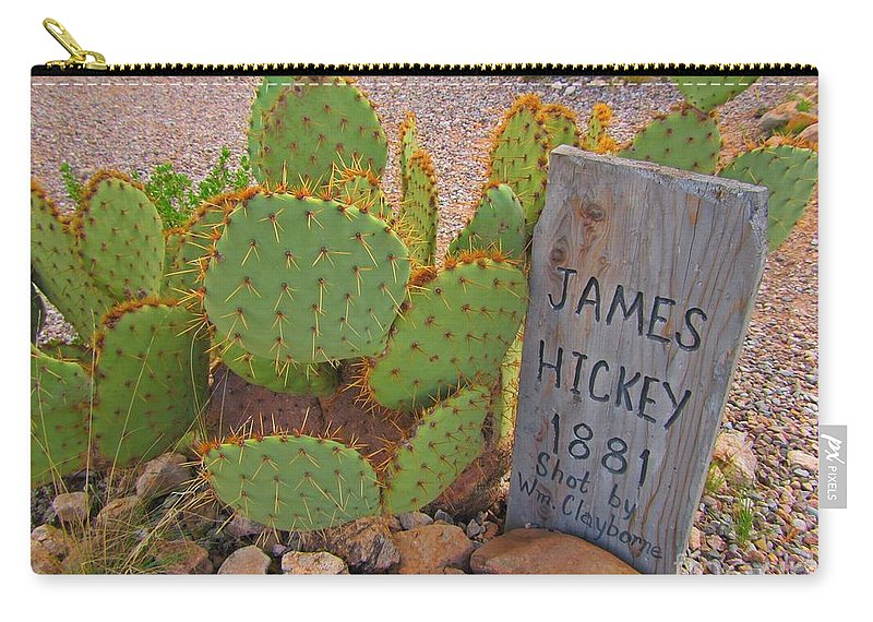 Famous Graveyards Carry-all Pouch featuring the photograph James Hickey Shot by John Malone