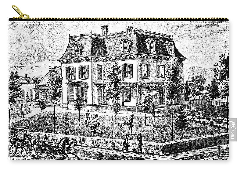 1875 Carry-all Pouch featuring the photograph James Holly Residence by Granger