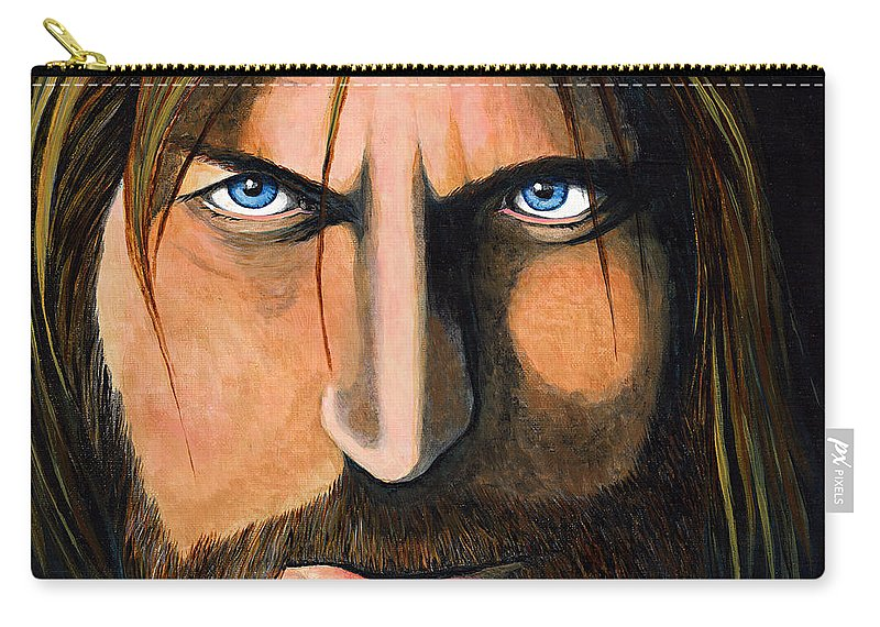 Acrylic Carry-all Pouch featuring the painting Jamie Lannister...game Of Thrones by Brigitte Meskey