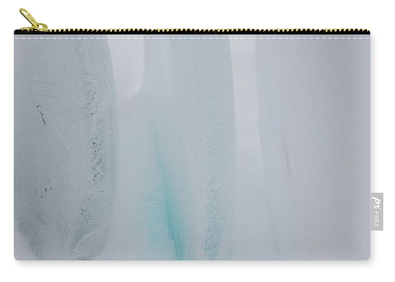 Gray Carry-all Pouch featuring the photograph Jammer Abstract Blueness 001 by First Star Art