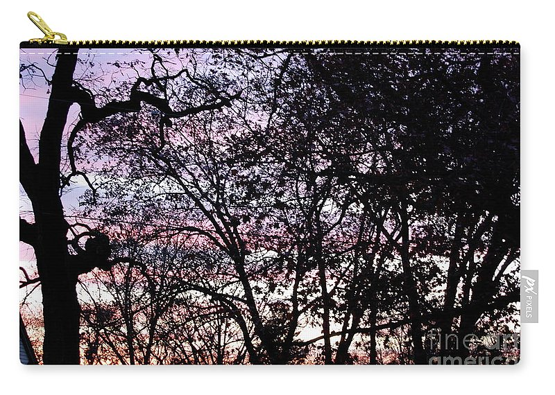 Trees Carry-all Pouch featuring the photograph Jammer Cotton Candy Trees by First Star Art