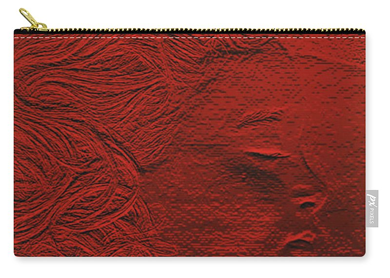 First Star Art Carry-all Pouch featuring the photograph jammer MZ portrait 02 by First Star Art