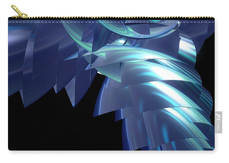First Star Art Carry-all Pouch featuring the digital art Jammer Turbo Sheen 001 by First Star Art