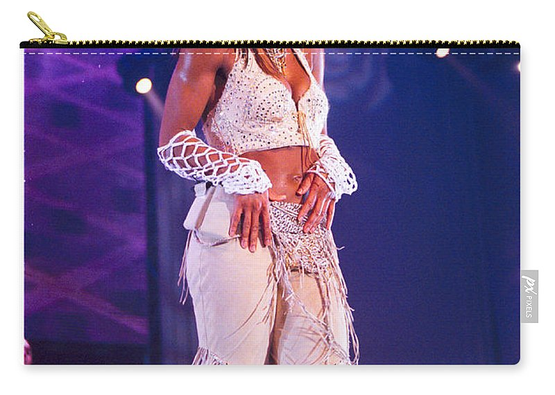 Janet Jackson Carry-all Pouch featuring the photograph Janet Jackson-03 by Timothy Bischoff