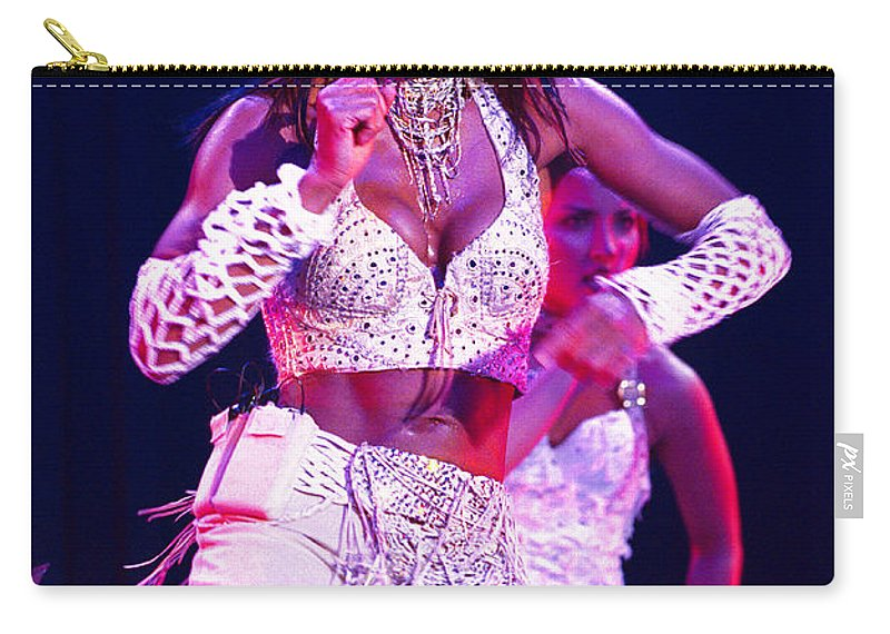 Janet Jackson Carry-all Pouch featuring the photograph Janet Jackson-07 by Timothy Bischoff