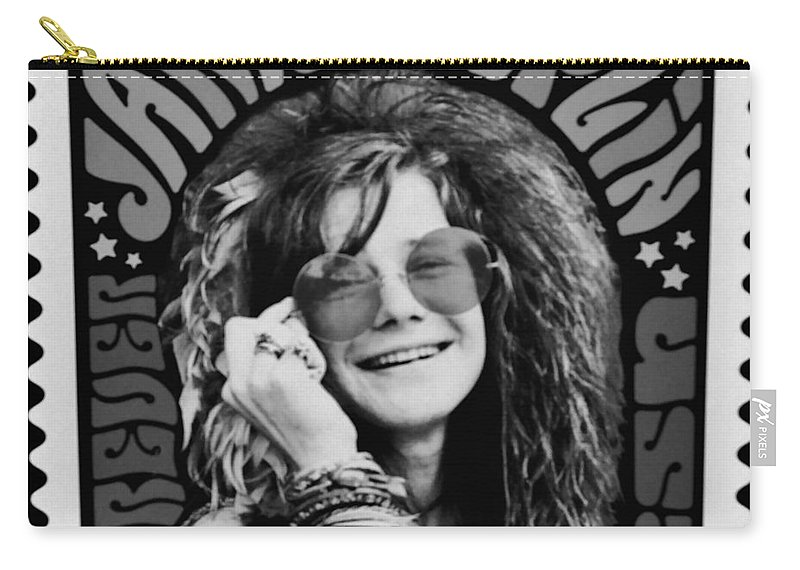 Janis Carry-all Pouch featuring the photograph Janis Stamp In A Black And White Vibe by Rob Hans