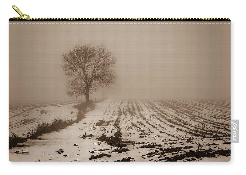 Bill Pevlor Carry-all Pouch featuring the photograph January Fog by Bill Pevlor