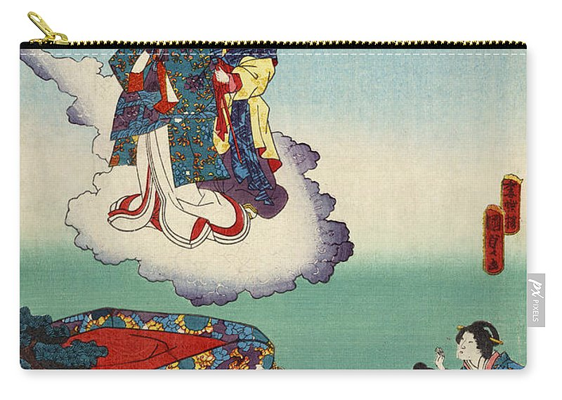 12th Century Carry-all Pouch featuring the photograph Japan: Tale Of Genji by Granger