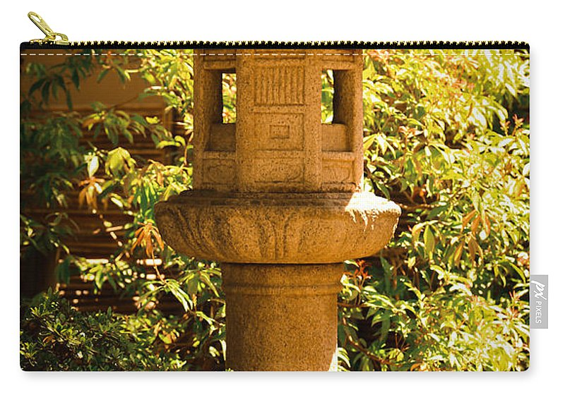 Japanese Statue Carry-all Pouch featuring the photograph Oriental Lantern by Athena Mckinzie