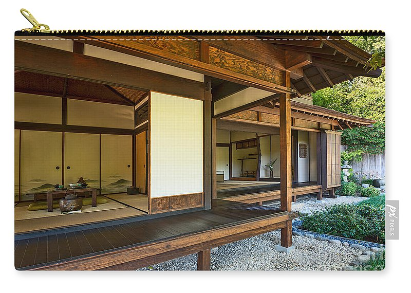 Japanese Tea House At The Huntington Librarys Japanese Garden Carry All Pouch For Sale By Jamie Pham