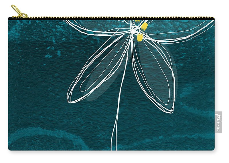 Abstract Carry-all Pouch featuring the painting Jasmine Flower by Linda Woods