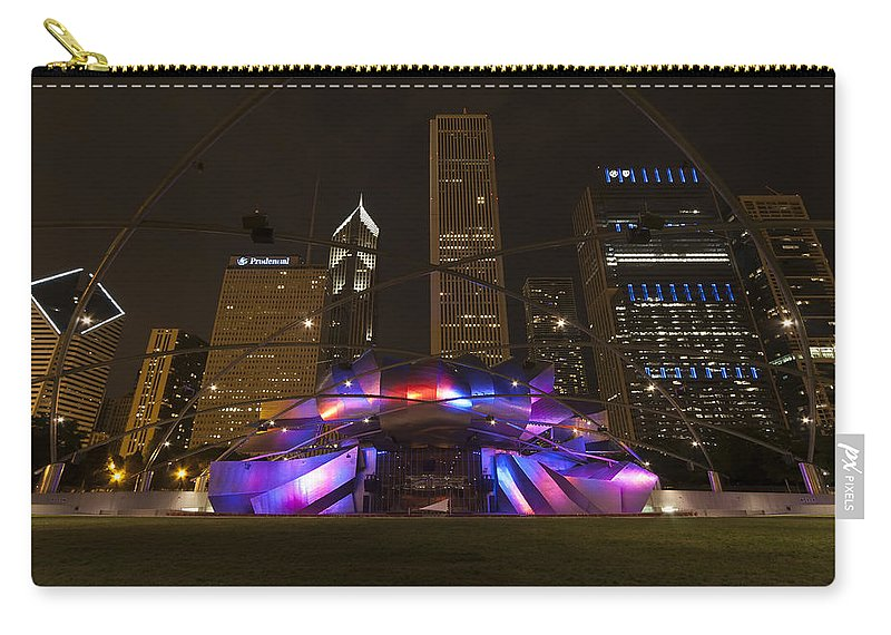 3scape Photos Carry-all Pouch featuring the photograph Jay Pritzker Pavilion Chicago by Adam Romanowicz