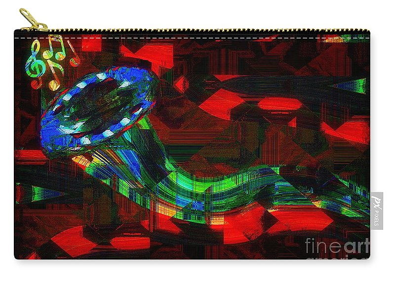 Horn Carry-all Pouch featuring the painting Jazz At Midnight by RC DeWinter