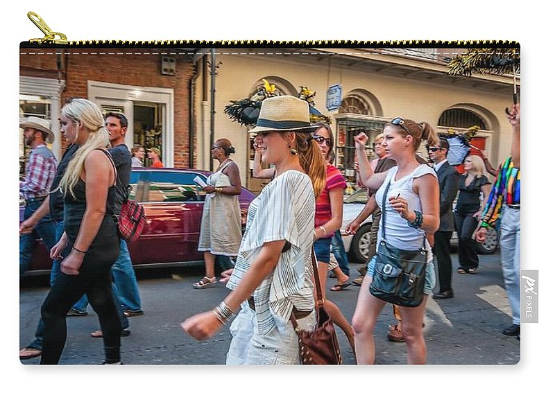 French Quarter Carry-all Pouch featuring the photograph Jazz Funeral...the Second Line 4 by Steve Harrington