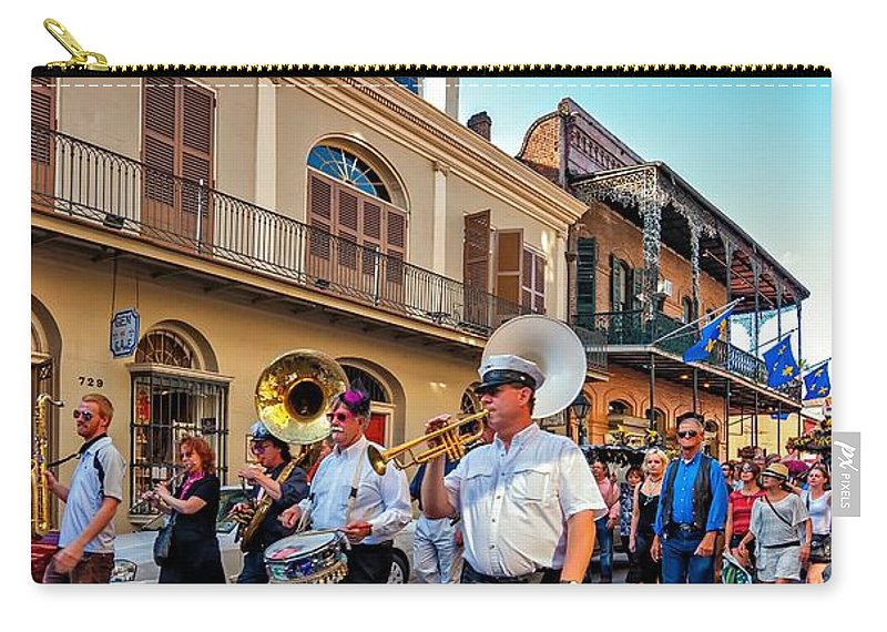 French Quarter Carry-all Pouch featuring the photograph Jazz Funeral...the Second Line  by Steve Harrington