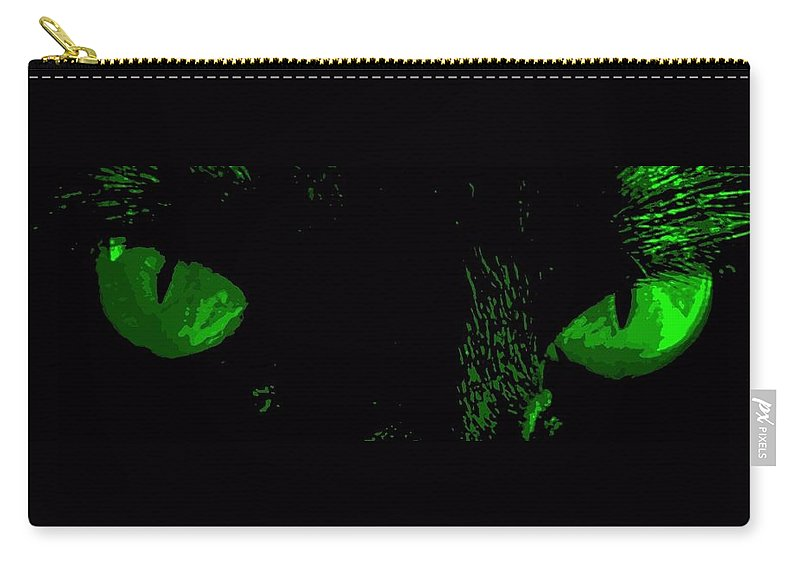 Cat Carry-all Pouch featuring the photograph Jealousy by Guy Pettingell