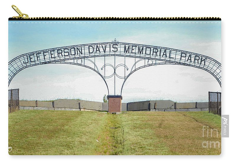 Park Carry-all Pouch featuring the photograph Jefferson Davis Memorial Park by Wesley Farnsworth
