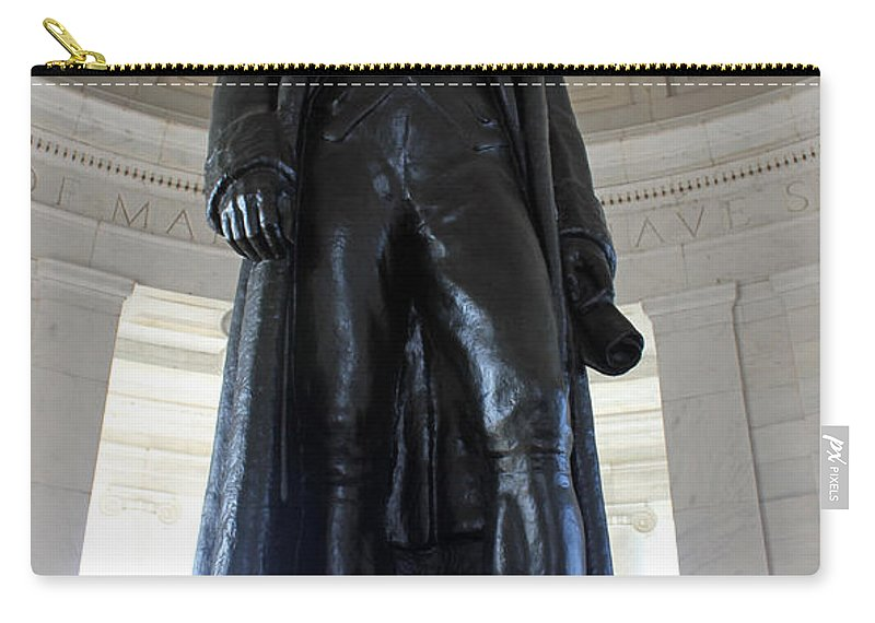 Jefferson Carry-all Pouch featuring the photograph Jefferson Memorial2 by Carolyn Stagger Cokley