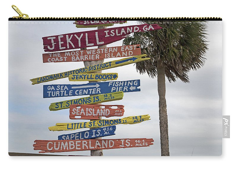 Jekyll Carry-all Pouch featuring the photograph Jekyll Island Where To Go by Betsy Knapp