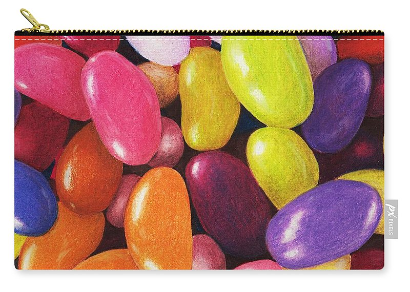 Malakhova Carry-all Pouch featuring the painting Jelly Beans by Anastasiya Malakhova