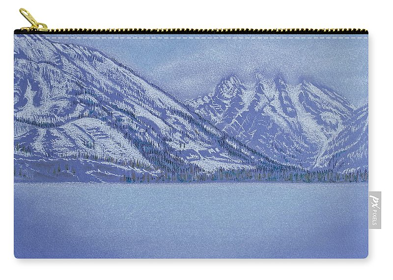 Landscape Carry-all Pouch featuring the pastel Jenny Lake - Grand Tetons by Michele Myers