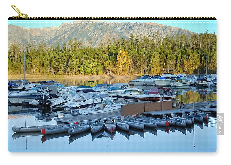 Jenny Lake Carry-all Pouch featuring the photograph Jenny Lake by Kathy Sampson