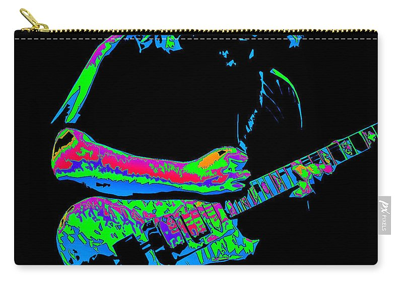 Grateful Dead Carry-all Pouch featuring the photograph Jerry In Cheney On A Cosmic Day In 1978 by Ben Upham