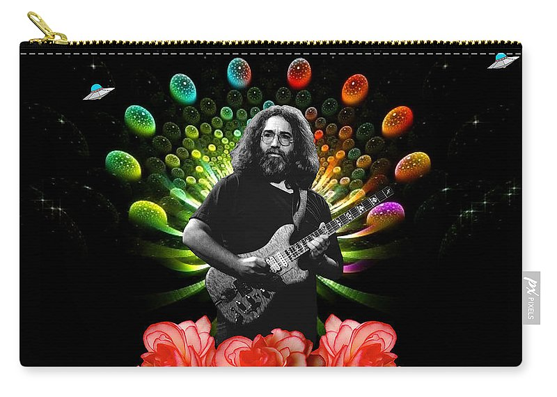 Jerry Garcia Carry-all Pouch featuring the photograph Jerry Spacepods Ufo Roses 1 by Ben Upham