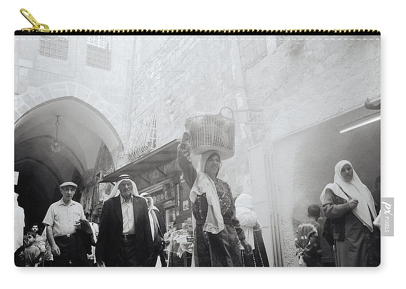 Jerusalem Carry-all Pouch featuring the photograph Old City Of Jerusalem by Shaun Higson