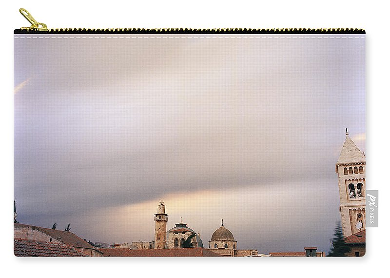 Jerusalem Carry-all Pouch featuring the photograph Ethereal Jerusalem by Shaun Higson