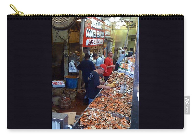 Washington Carry-all Pouch featuring the photograph Jessie's Cooked Seafood by Lois Ivancin Tavaf