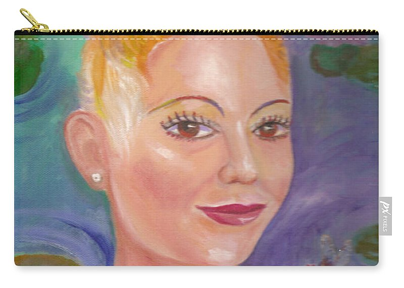 Mohock Carry-all Pouch featuring the painting Jesskya 1 by To-Tam Gerwe