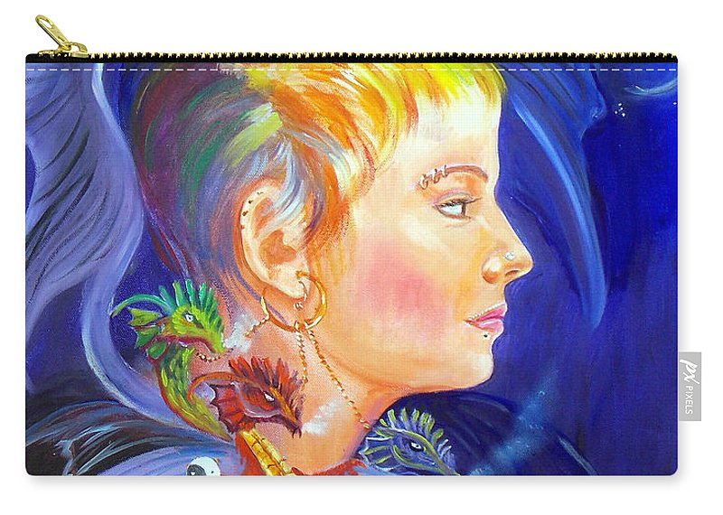 Fantasy Painting Carry-all Pouch featuring the painting Jesskya 2 by To-Tam Gerwe