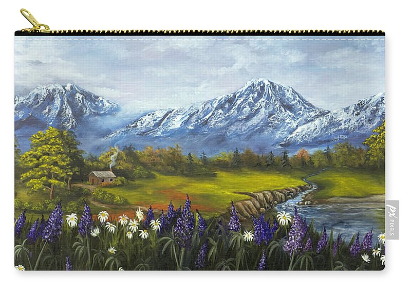 Landscape Carry-all Pouch featuring the painting Jessy's View by Darice Machel McGuire
