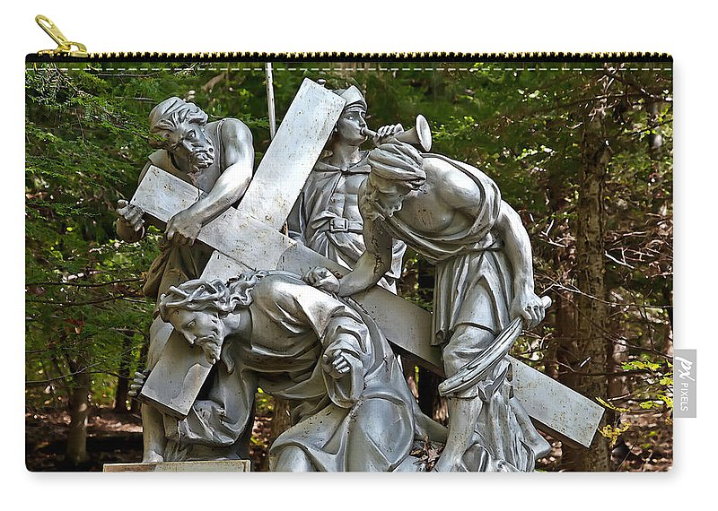 Angel Carry-all Pouch featuring the photograph Jesus Falls The First Time by Terry Reynoldson