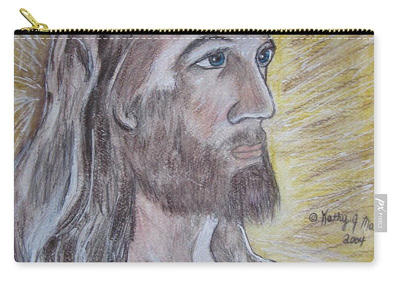 Jesus Carry-all Pouch featuring the painting Jesus by Kathy Marrs Chandler