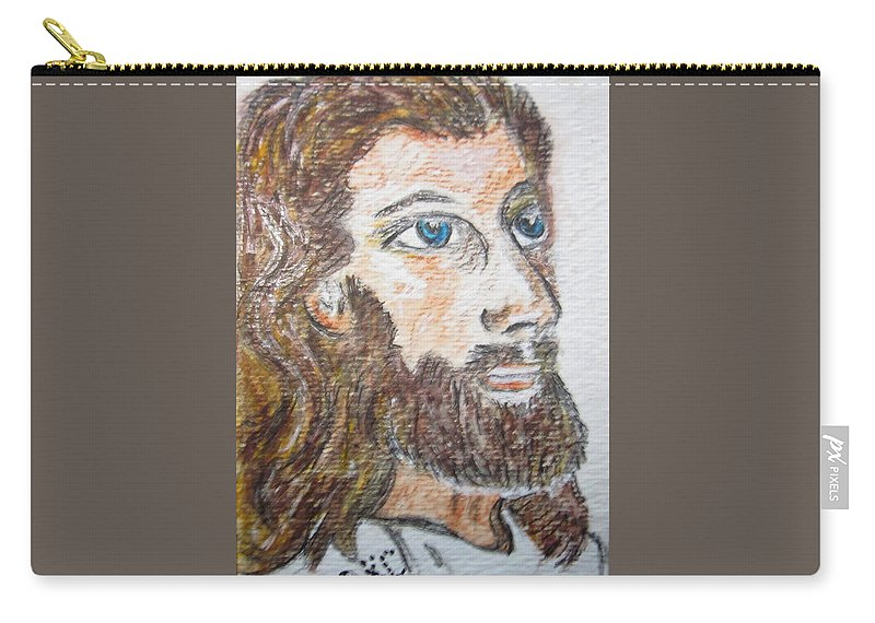 Jesus Carry-all Pouch featuring the painting Jesus Our Saviour by Kathy Marrs Chandler