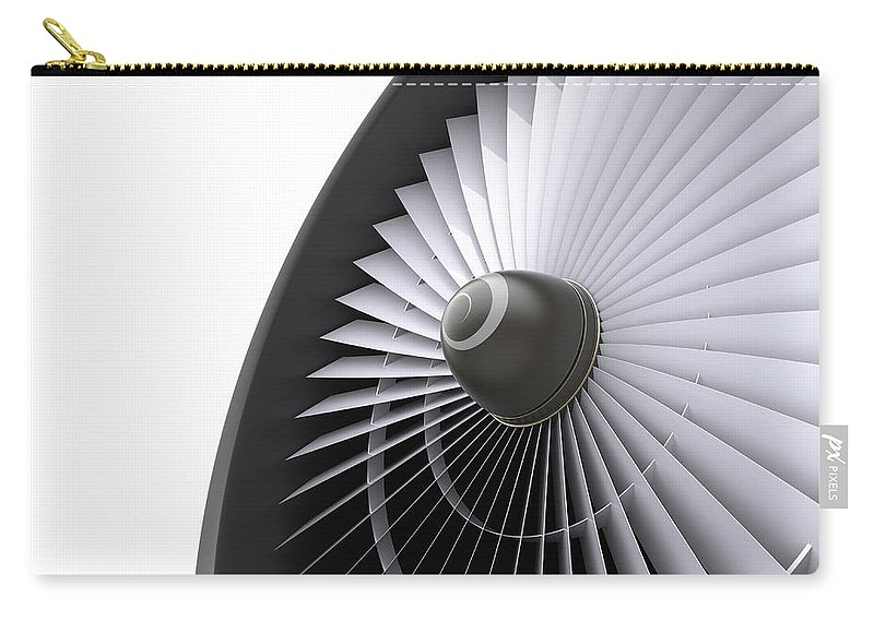 Engine Carry-all Pouch featuring the photograph Jet Turbine by Klenger