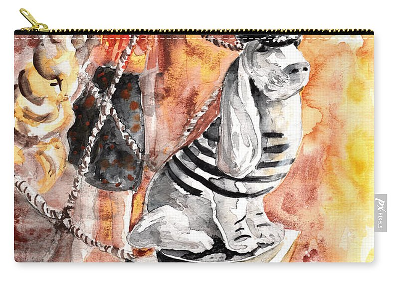 Travel Carry-all Pouch featuring the painting Jeux De Seduction In Dublin 06 by Miki De Goodaboom