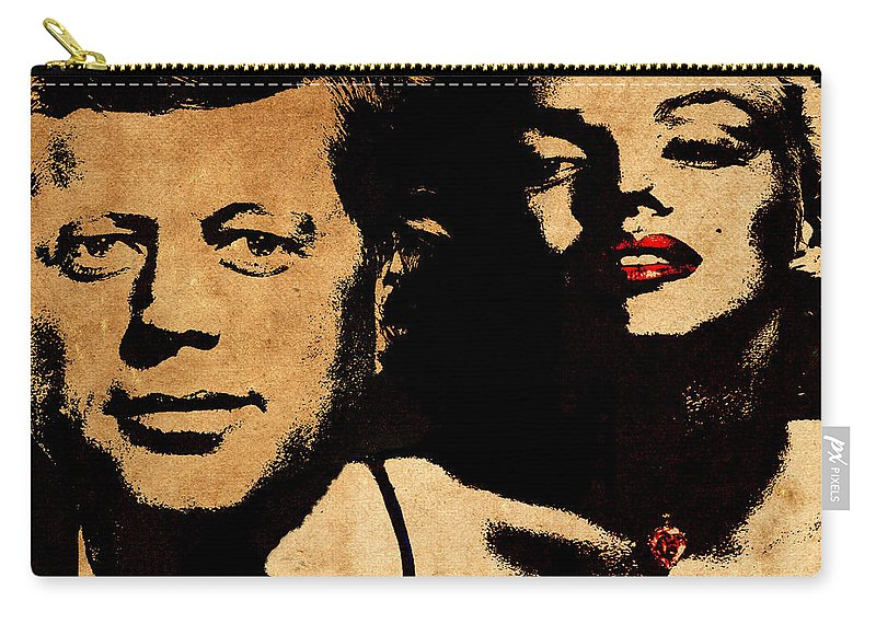 Jfk Carry-all Pouch featuring the photograph Jfk And Marilyn by Andrew Fare