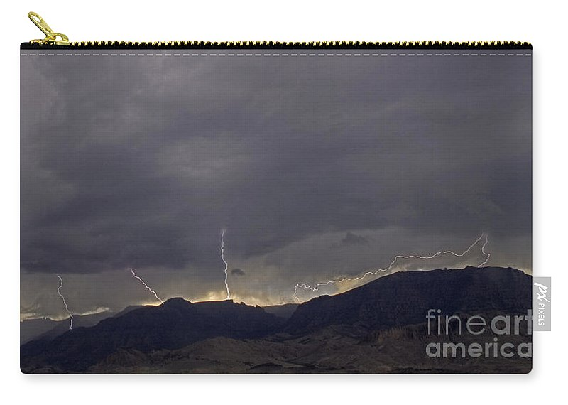 Lightning Carry-all Pouch featuring the photograph Jim Mountain Lightning by J L Woody Wooden